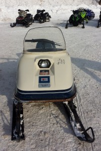 """This vintage sled boats a 2014 autograph """"Happy Trails ACL and ACM."""" I thought it looked pretty cool."""