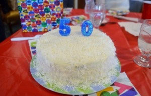 Vince's 50 year old birthday cake