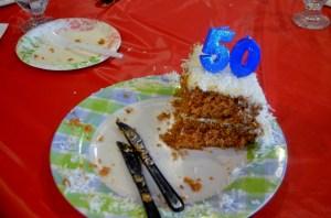 Vince's eaten birthday cake