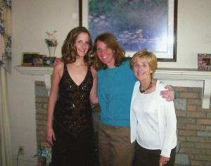 Katherine, Grandma Peggy and me Prom night