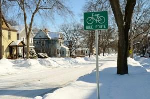 Optimistic bike route