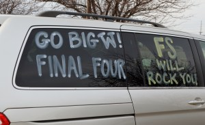 We spotted this decked out van in our hotel parking lot. Normal stuff for UW fans.