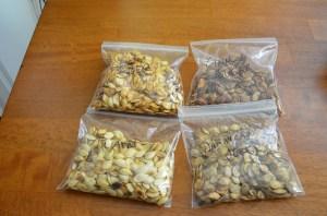 A bunch of sunflower seeds