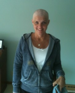 Kathy with no hair