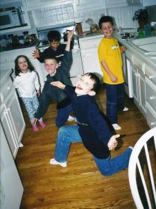 Kitchen full of boys