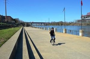 Riverfront unicycle