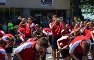 Pulaski Band trumpets