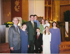 Vinnie's first communion