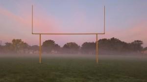 Fog on the football field
