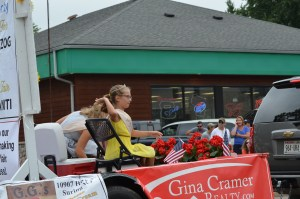 The Suring Parade throwing cheese