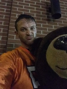The Man Behind the Mask (is very sweaty and actually hates the Bears)