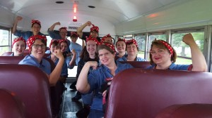 Riveters on the bus