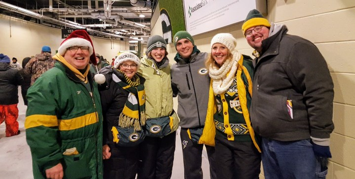 All-weather friends and Packer fans