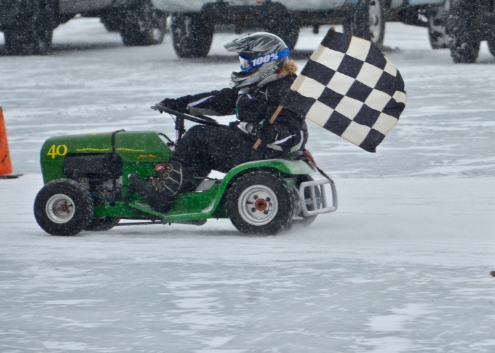 Ice Ice Lawnmower Races, Baby
