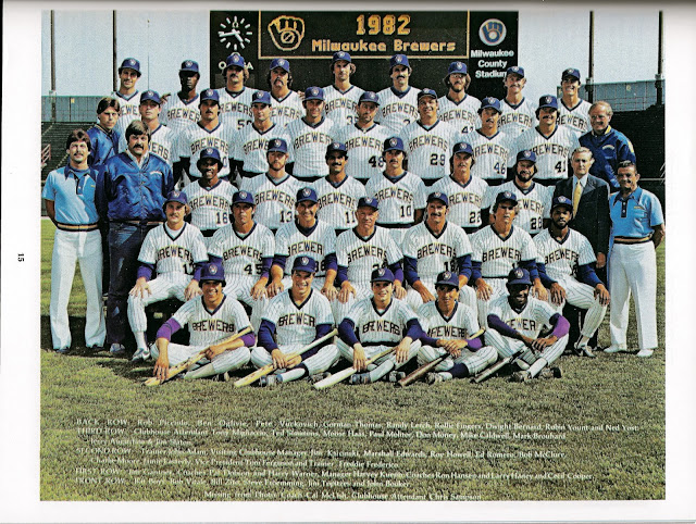 1982 Brewers team picture