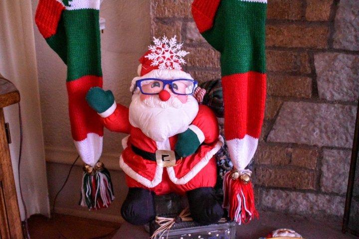Santa wears specs