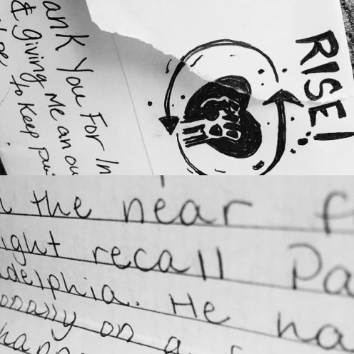 Rise posted my letter (bottom) on their Instagram!