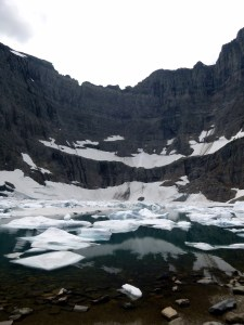 Iceberg Lake shaded by Mount Wilbur, Glacier National Park, MT