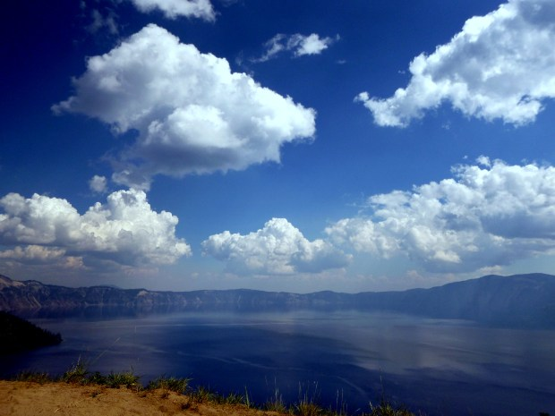 View of the lake and rim from Discovery Point Trail, Crater Lake National Park, Oregon