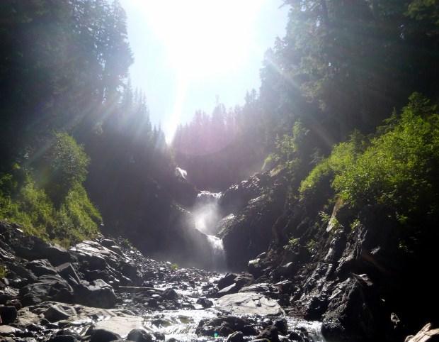 Unknown falls on Comet Falls Trail, Mount Rainier National Park, WA