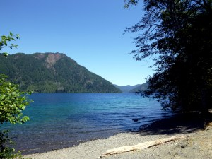 Shore of Lake Crescent, Olympic National Park