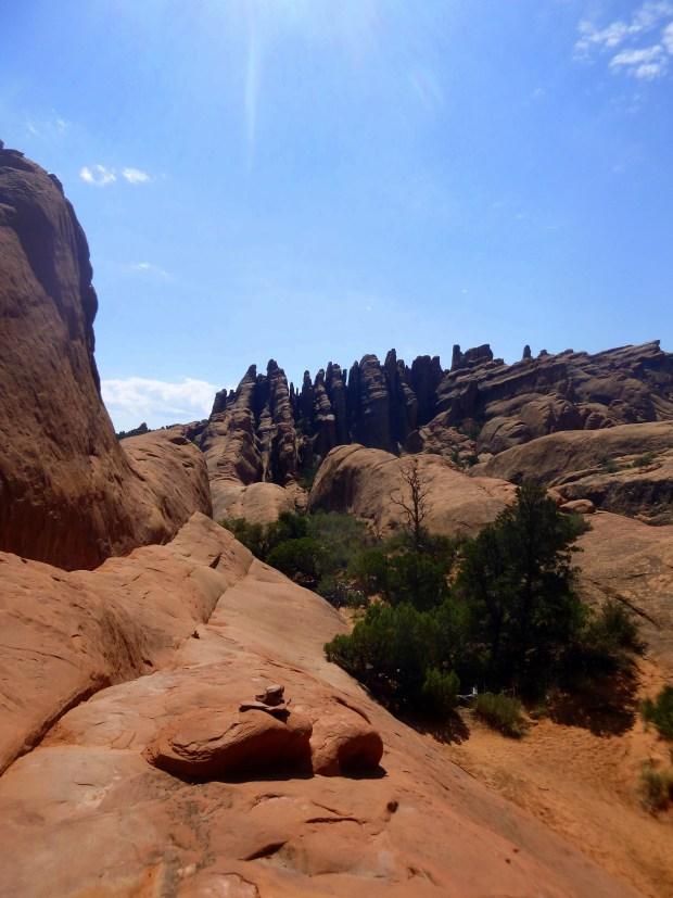 Fins on Devil's Garden Trail, Arches National Park, Utah