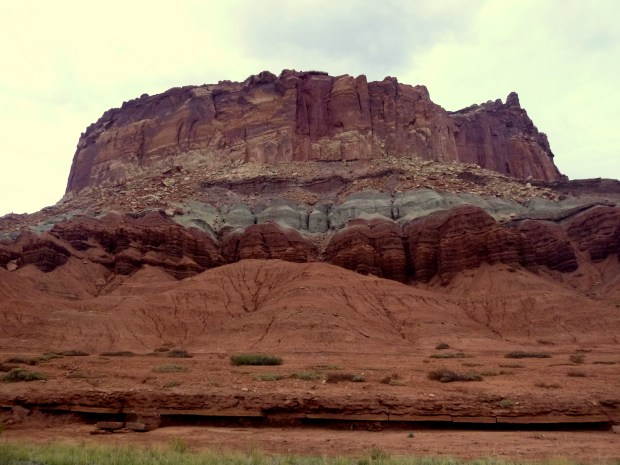 Multi-colored sedimentary strata, Scenic Drive, Capitol Reef National Park, Utah