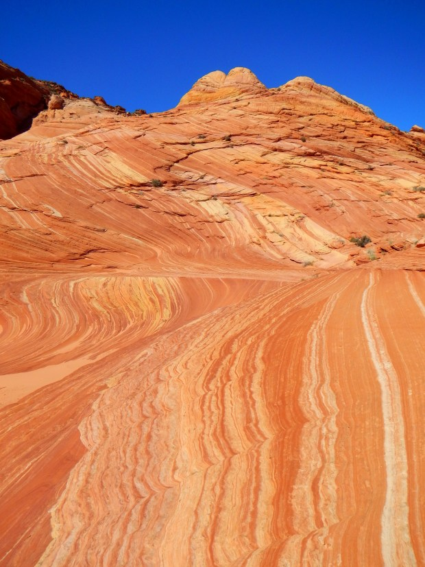 Close-up of sandstone layers, Coyote Buttes, Grand Staircase-Escalante National Monument, Utah-Arizona border