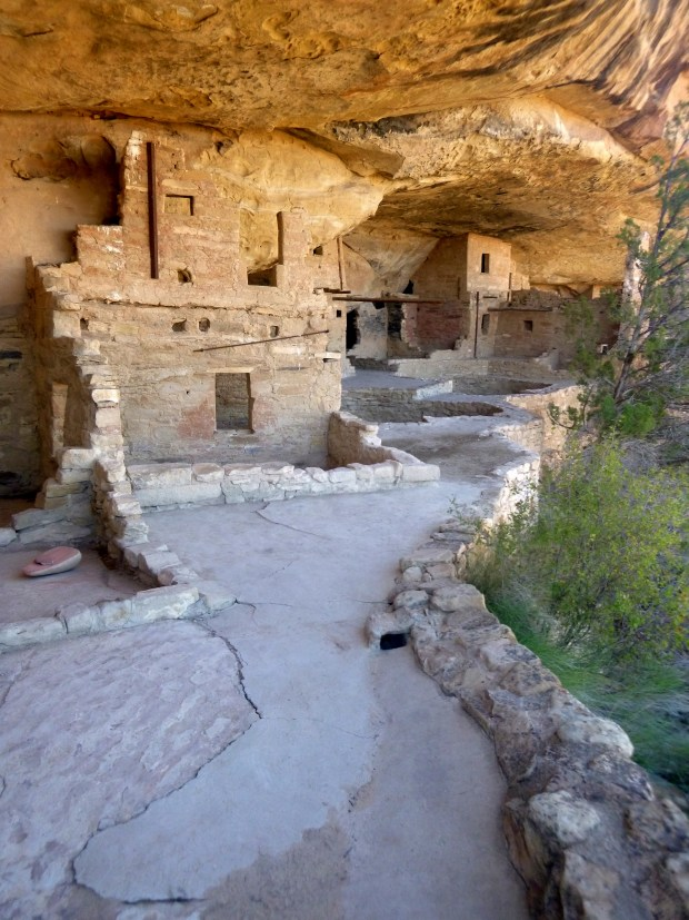 View of site from left side of alcove, Balcony House, ca. 1278 AD, Mesa Verde National Park, Colorado