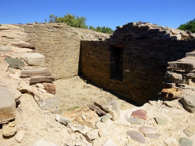 Room in main house block with door, Salmon Ruins, New Mexico