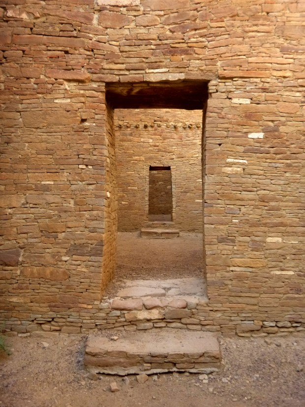 Doors aligned East, Pueblo Bonito, ca. 850 - 1140 AD, Chaco Canyon National Historical Park, New Mexico
