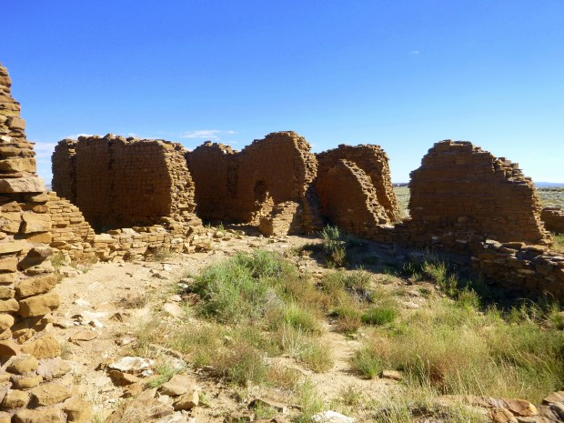 Thick masonry walls at New Alto, ca. 1100 - 1130 AD, Chaco Canyon National Historical Park, New Mexico