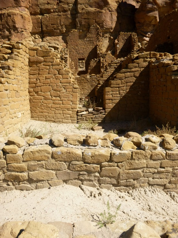View of multiple rooms through doorway at Kin Kletso, ca. 1100 - 1130 AD, Chaco Canyon National Historical Park, New Mexico