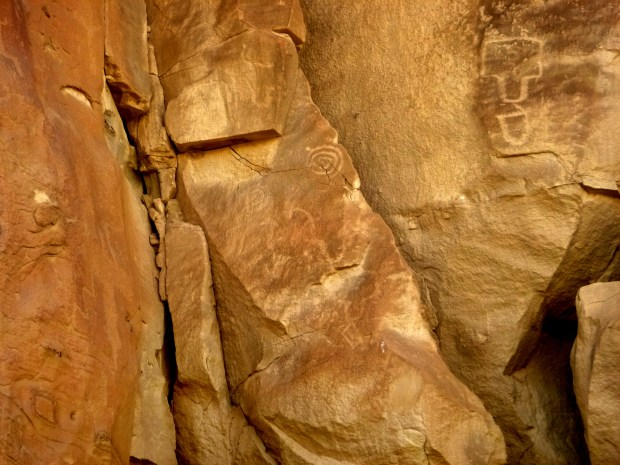 Petroglyphs behind campground, Chaco Canyon National Historical Park, New Mexico
