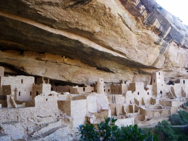 View of right side of alcove, Cliff Palace, 1190 - 1260 AD, Mesa Verde National Park, Colorado