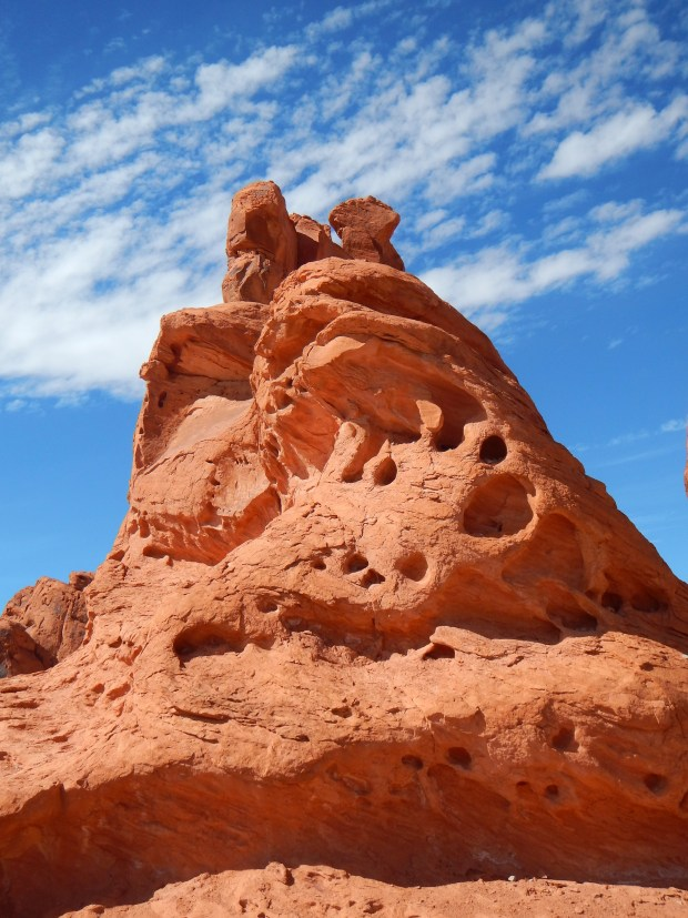 One of the Seven Sisters Rock Formations, Valley of Fire State Park, Nevada