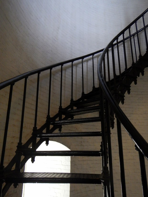 Circular stairs leading up, St. Augustine Lighthouse, Florida