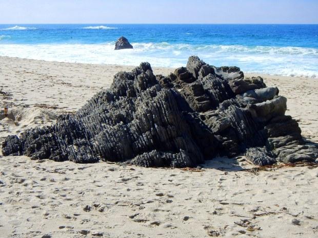A cool rock on an unknown beach, Central Coast, California