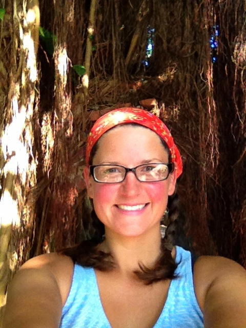 Me in front of mangrove trees, Fort Martello, Key West, Florida