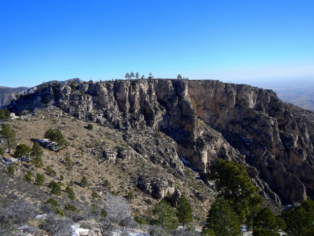 Ascending past another ridge, Guadalupe Peak Trail, Guadalupe Mountains National Park, Texas
