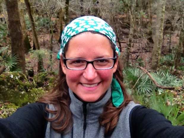 Me in the upland forest of the Bluff Trail, Florida Caverns State Park, Florida