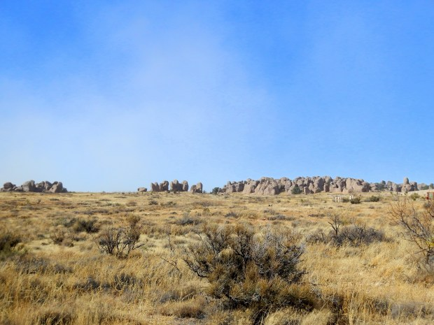 City of Rocks State Park from near entrance, New Mexico