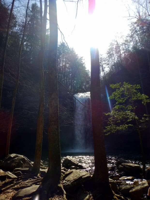 Approaching Cherokee Falls, Waterfalls Trail, Cloudland Canyon State Park, Georgia