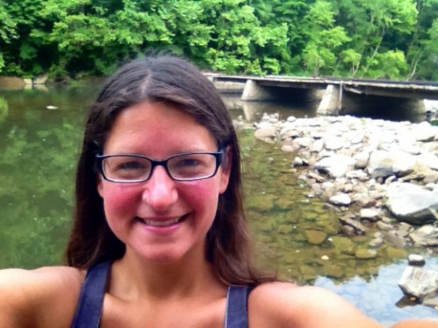 Me in front of historic low water bridge, Big South Fork Recreation Area, Tennessee