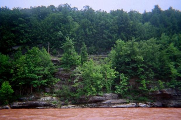 Cliffs on the Pennsylvania side, Delaware River, Pennsylvania/New York