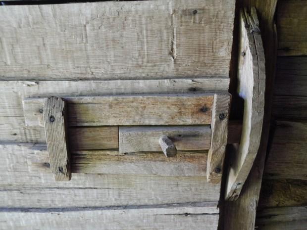Bolt on stall door, Hensley Settlement, Cumberland Gap National Historical Park, Kentucky