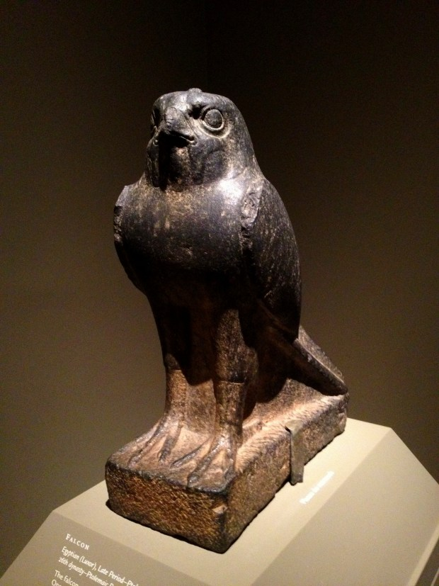 Egyptian statue of falcon from Luxor, ca. 664-100 B.C., Walters Art Museum, Baltimore Maryland