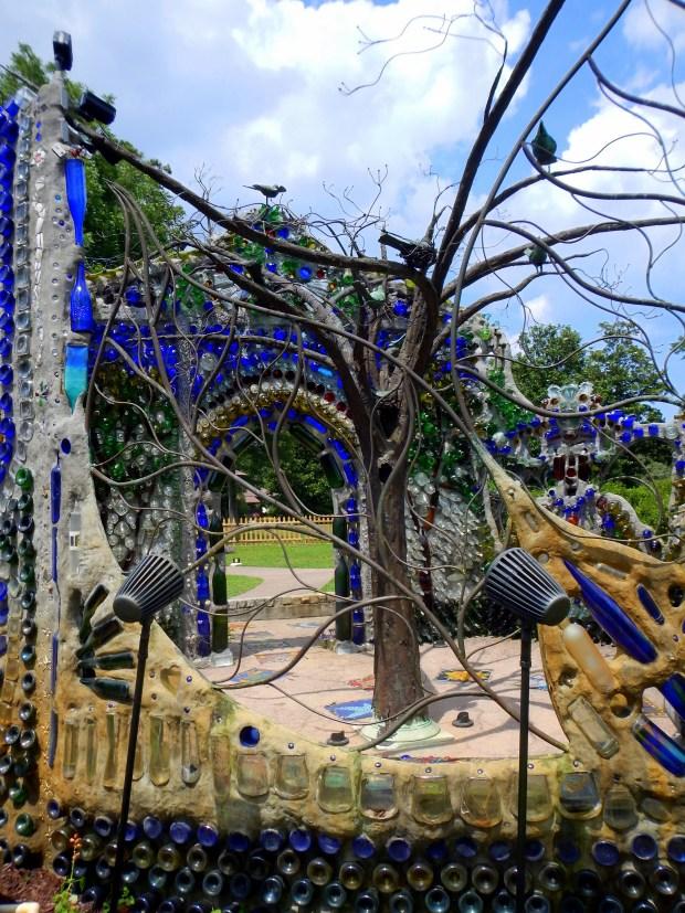 Tree sculpture inside Bottle Chapel, Minnie Evans Sculpture Garden, Airlie Gardens, Wilmington, North Carolina