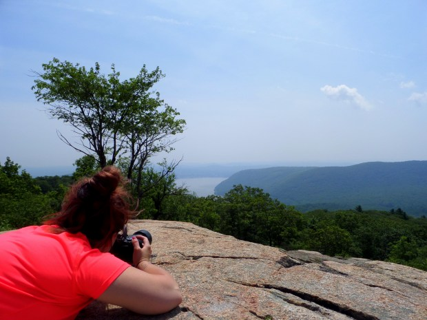 Tina doing her thing, Bear Mountain State Park, New York