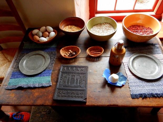 Kitchen table, Sylvanus Brown House, Slater Mill Historic Site, Pawtucket, Rhode Island